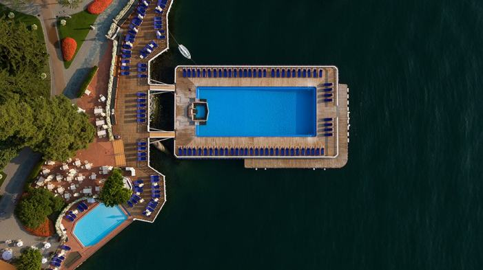 Villa d'Este - Pools from above
