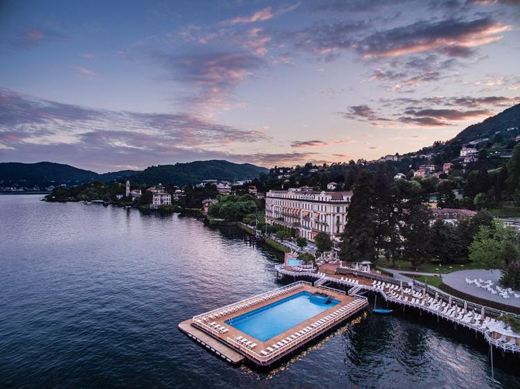 Villa d'Este at the sunset