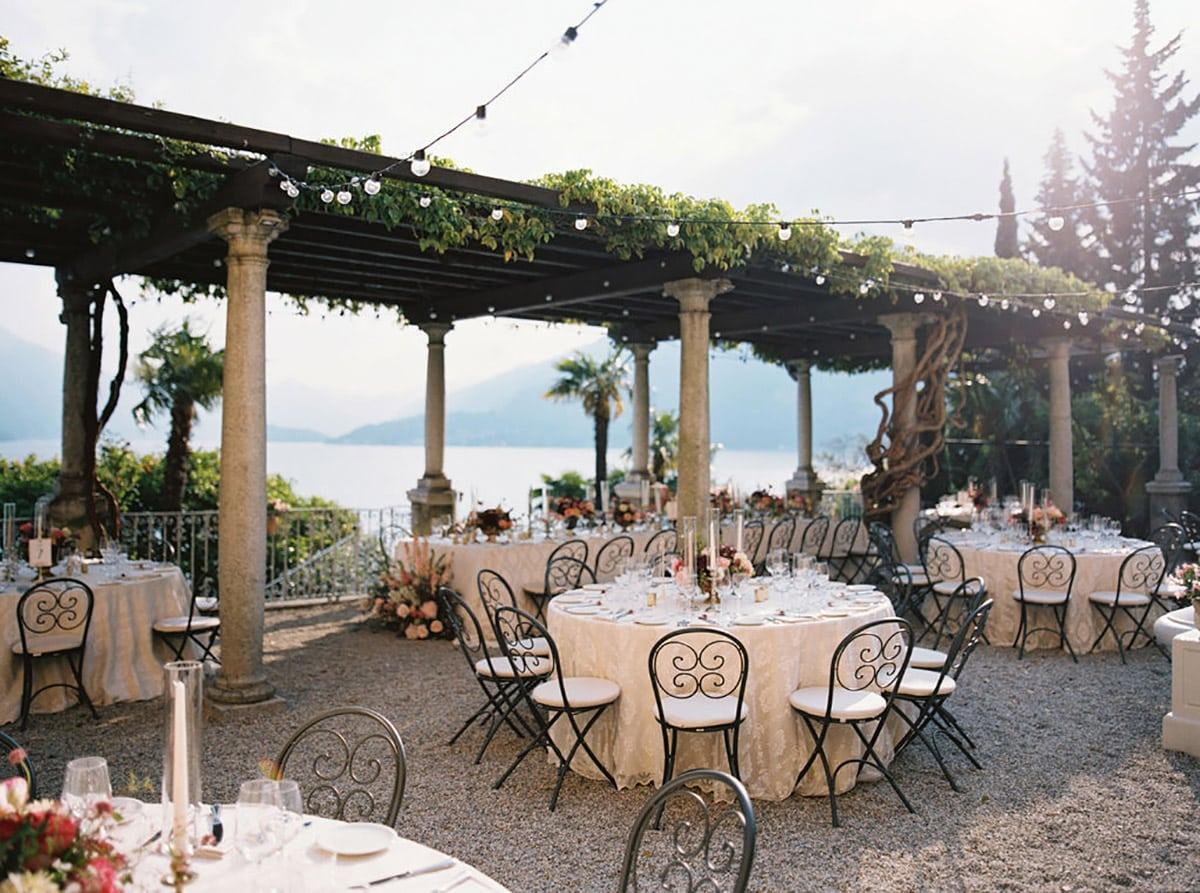 Villa Cipressi wedding reception