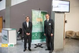 Mauro Borges, presidente da CEMIG (à esq) e Aloísio Vasconcelos, presidente da CEMIGTelecom.