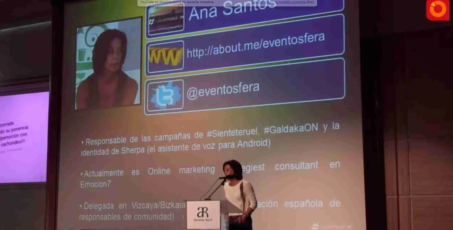 conferencia Ana Santos Eventosfera