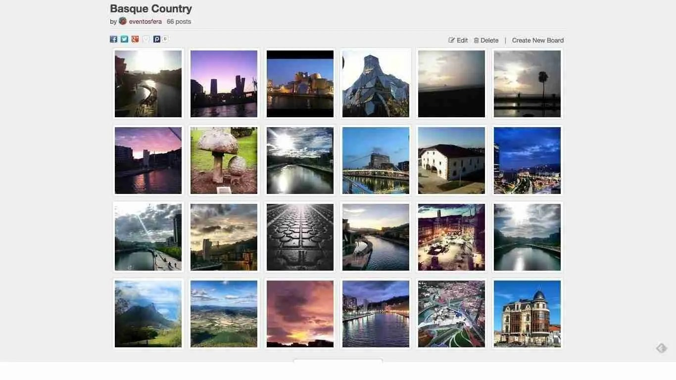 tablero de Instagram Basque Country