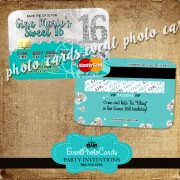 Search our selection of sweet 16 invitation templates and create party invites with a personal. Credit Card Quinceanera Invitations Sweet 16th Invitations Wedding Invites