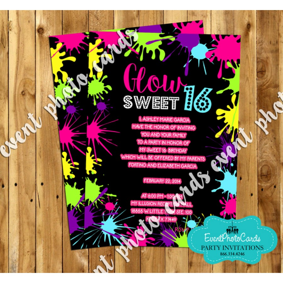 Save Date Cards Sweet 16