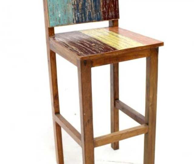 Wooden Bar Stool 1 2