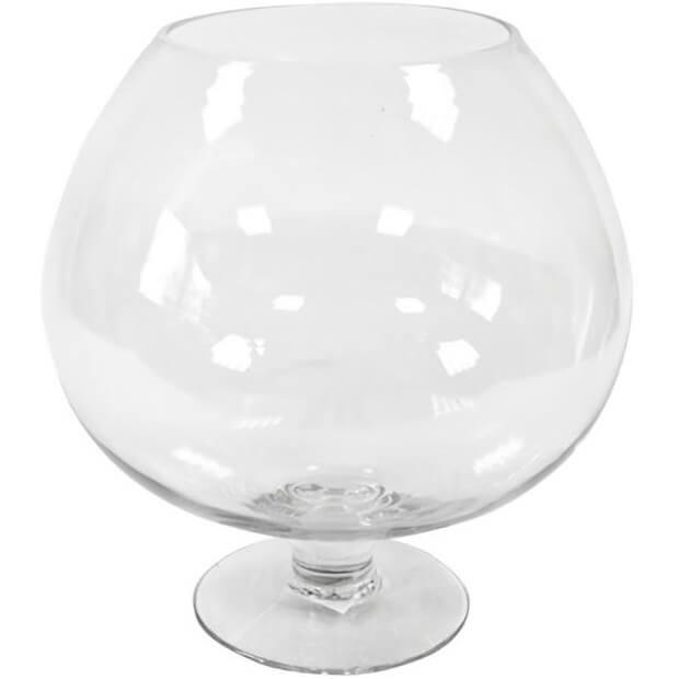vase elegant cognac en verre de 24cm