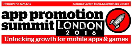 App Promotion Summit London 2016 @ Jumeirah Carlton Tower