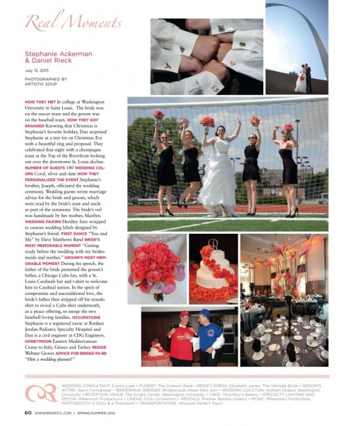 St Louis Bride Magazine editorial real wedding Stephanie and Dan