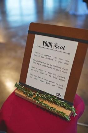 Seating instructions wedding