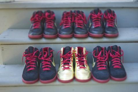 Custom wedding Nike Dunks for groomsmen shoes