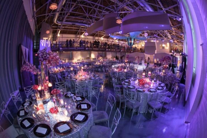 silver sparkle glitter sequin wedding reception purple pink flowers palladium st louis