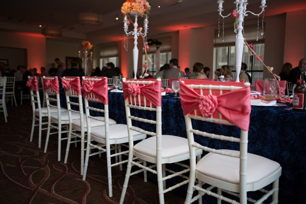 EventsLuxe Coral and Navy Modern Fusion 19