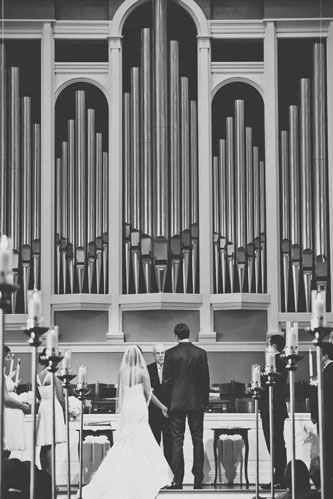 Bride & Groom at Twin Oaks Presbyterian church St. Louis | Events Luxe Weddings