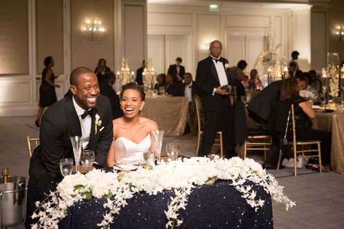 Bride & Groom table at the Ritz Carlton St. Louis | Events Luxe Weddings