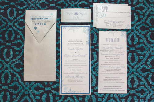 invitations for winter white wedding in st. louis | Events Luxe weddings