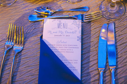 winter white wedding programs in st. louis | Events Luxe weddings