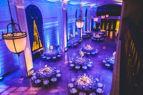 Marriott Grand Cobalt blue and winter white wedding | Events Luxe Weddings