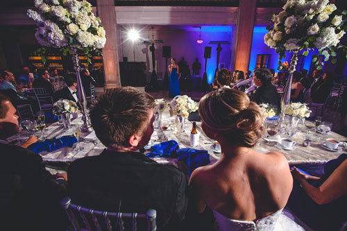 bride and groom cobal blue wedding | Events Luxe Weddings