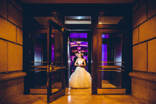 Bride and Groom at the Marriott Grand in St. Louis | Events Luxe Weddings