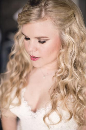 Bride getting ready for the wedding | St. Louis Wedding Planning by Events Luxe