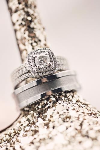 Wedding ring on wedding shoe heel | St. Louis Wedding Planning Events Luxe