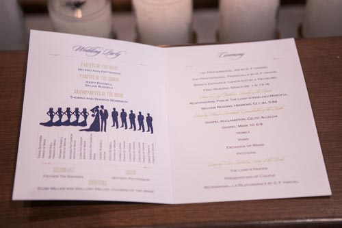 Papercut Invites Wedding Programs | St. Louis Weddings by Events Luxe