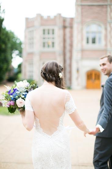 Bride & Groom at Wash U | Events Luxe Weddings