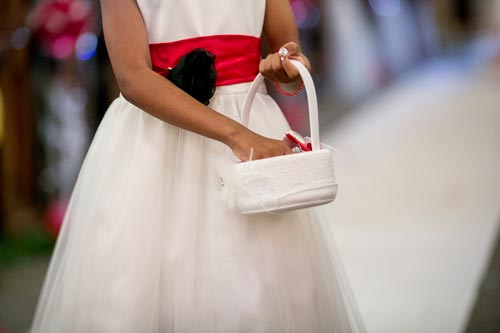 Flower Girl Red Sash | Events Luxe Weddings