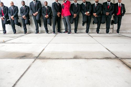 Groom & Groomsmen floor image | Events Luxe Wedding