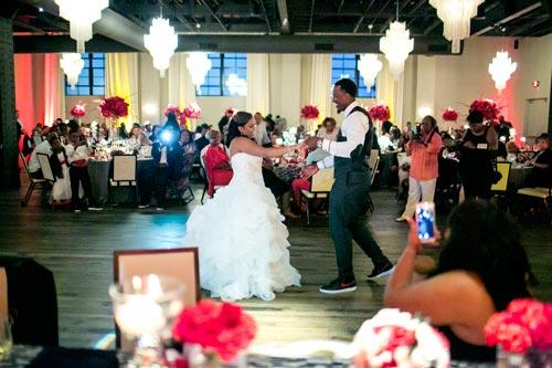Bride & Groom at Caramel Room | Events Luxe Weddings