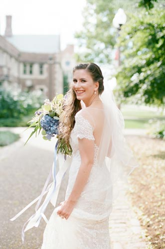 Bride at Wash U | Weddings by Events Luxe