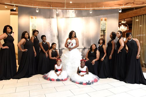 Bridal Party at the Caramel Room St Louis | Events Luxe Wedding