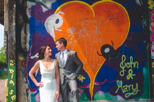 Bride & Groom Graffiti Photos | Weddings by Events Luxe