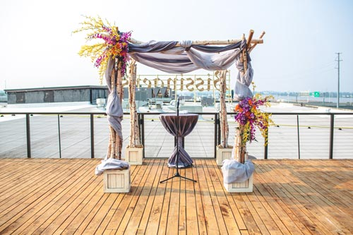 Summer Rooftop Wedding St. Louis at Bissingers | Events Luxe Weddings