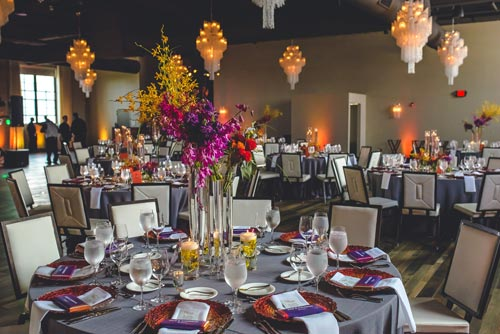 Wedding Reception at the Caramel Room at Bissingers | Weddings by Events Luxe