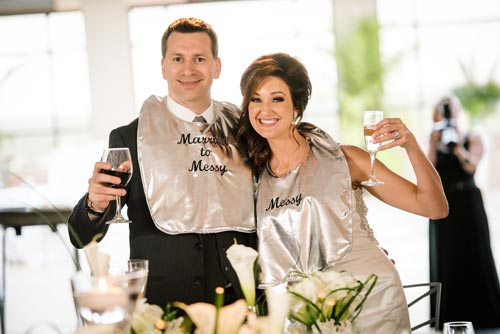 Bride & Groom Bibs | Events Luxe Weddings
