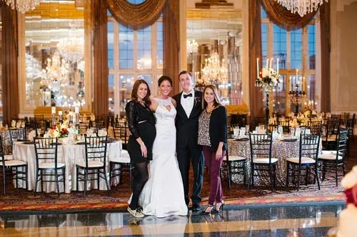 Events Luxe Team with Bride & Groom at Missouri Athletic Club Sultry Night Wedding | Events Luxe Weddings