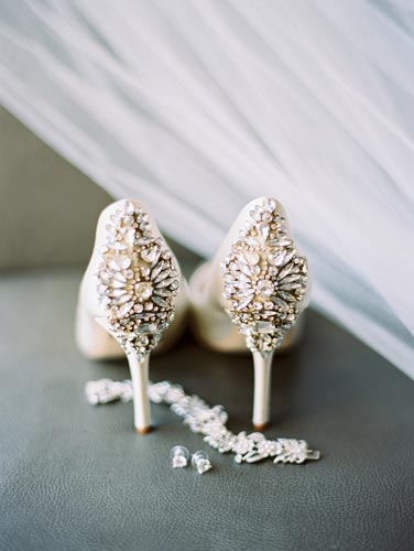 Blush bridal shoes | Events Luxe Weddings