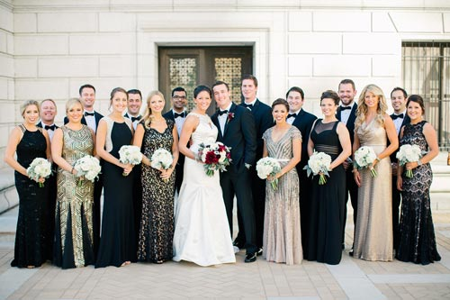 Bridal Party at Old Cathedral St Louis | Weddings by Events Luxe