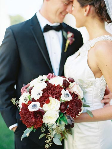 Red & White Bridal Bouquet | Events Luxe Weddings