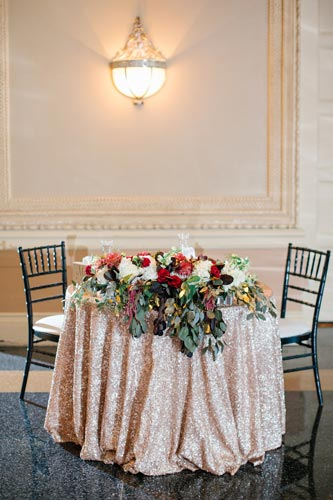 Missouri Athletic Club Table settings | Events Luxe Weddings