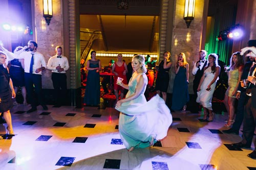 Bride dancing at the Peabody Opera House wedding | Events Luxe Weddings