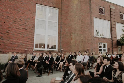 Wedding guests wait at Joule | Events Luxe Weddings