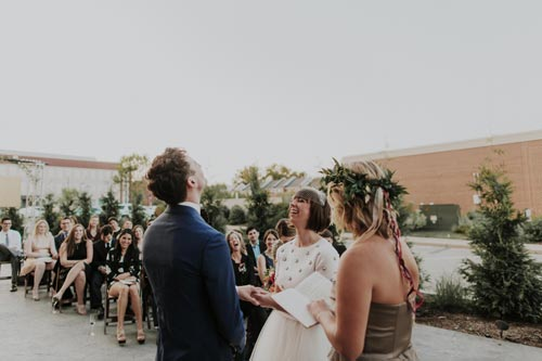 Wedding vows at Joule | Events Luxe Weddings