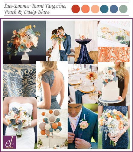 Burnt Orange and Dusty Blue Wedding | Orange and Blue Wedding | Events Luxe Weddings