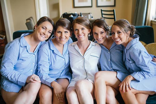 Bridal party matching pjs | Events Luxe Weddings