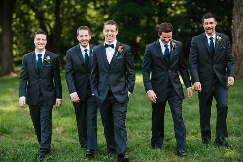 Groomsmen at the park | Events Luxe Weddings