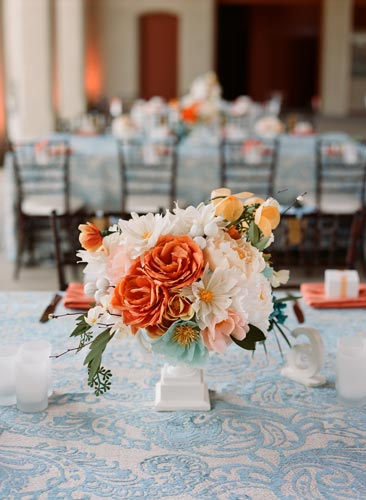 paper flower centerpiece | Events Luxe Weddings