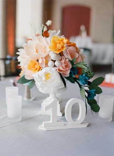 Paper flower table settings | events luxe weddings