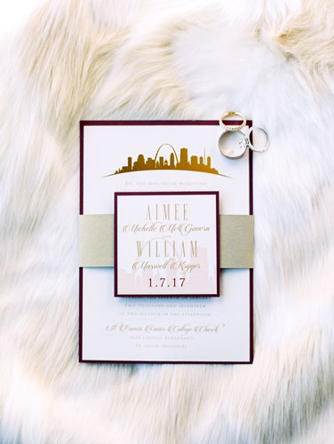 Rouge Winter Wedding Invites | Events Luxe Wedding
